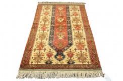 Kobierzec z Afganistanu 100% jedwab etniczny orientalny dywan ręcznie wykonany 112X170cm XX wiek cenny