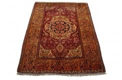 Kobierzec z Afganistanu 100% jedwab etniczny orientalny dywan ręcznie wykonany 115X154cm XX wiek cenny