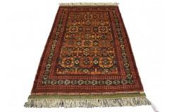 Kobierzec z Afganistanu 100% jedwab etniczny orientalny dywan ręcznie wykonany 115X184cm XX wiek cenny