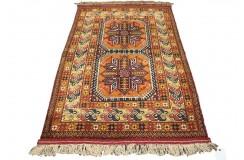 Kobierzec z Afganistanu 100% jedwab etniczny orientalny dywan ręcznie wykonany 118x175cm XX wiek cenny