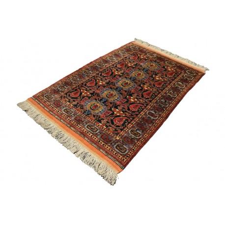 Kobierzec z Afganistanu 100% jedwab etniczny orientalny dywan ręcznie wykonany 140x160cm XX wiek cenny