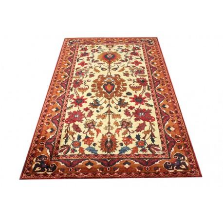 Luksusowy kobierzec z Afganistanu 100% jedwab etniczny orientalny dywan ręcznie wykonany 118x195cm XX wiek cenny
