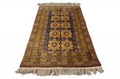 Afgan Mauri oryginalny 100% wełnian dywan z Afganistanu 108x175cm ręcznie gęsto tkany antyk 1 000 000 wiązań