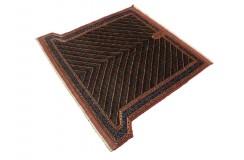Top 1 200 000 wiązań Afgan Mauri oryginalny 100% wełniany dywan z Afganistanu 106x116cm nietypowy kształt