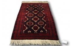 Dywan rękodzieło Beludżów 100% wełna 117x173cm oryginalny z Iranu tradycyjny perskie motywy ciemny