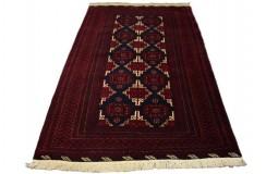 Dywan rękodzieło Beludżów 100% wełna 127x205cm oryginalny z Iranu tradycyjny perskie motywy ciemny