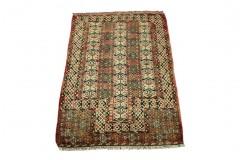 Kaukaski gęsto tkany 40-letni dywan Szyrwan Rosja/Azerbejdżan 94x122cm unikat
