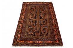 Afgan Ali Khoja oryginalny 100% wełniany dywan z Afganistanu 112x148cm ręcznie gęsto tkany Kabul antyk