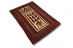 Afgan Ali Khoja oryginalny 100% wełniany dywan z Afganistanu 83x125cm ręcznie gęsto tkany Kabul antyk