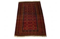 Półantyczny ręcznie tkany dywan Bucharski Jomud Turkmen z Turkmenistanu 100% wełna 50letni 95x153cm