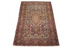 Isfahan - antyczny 80 letni kwiatowy dywan z IRANU wełniany oryginalny cenny 137x207cm cenny