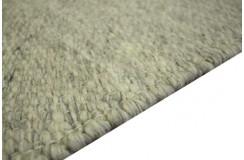 100% wełniany płasko tkany dywan kilim 160x230 szaro beżowy niepowtarzalny z Indii