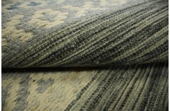 Bawełna i wełna gęsty gruby dywan kilim dwustronny 160x230 niebiesko beżowy ręcznie tkany z Indii
