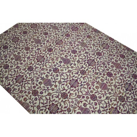 Płasko tkany dywan vintage 160x230 szary niepowtarzalny z Indii poliester bawełna