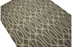 Płasko tkany dywan nowoczesny 160x230 brązowy niepowtarzalny z Indii poliester bawełna
