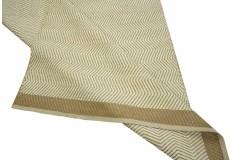 Gęsty gruby dywan kilim dwustronny 150x250 kremowo brązowy ręcznie tkany z Indii juta i bawełna
