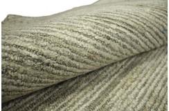 Poliester wiskoza srebrno beżowy nowoczesny cienioway dywan połysk z Indii 160x230cm