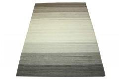 Płasko tkany dywan nowoczesny 160x230 szary cieniowany z Indii poliester bawełna