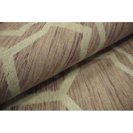 Płasko tkany dywan nowoczesny 160x230 liliowy cieniowany z Indii poliester bawełna