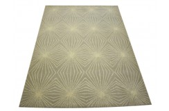 100% wełna szary dywan do salonu nowoczesny z Indii gruby 150x240cm