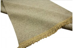 Gładki jasnobrązowy dywan dwustronny ręcznie tkany - kilim 140x200 HIT