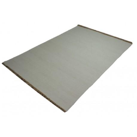 Gładki (ecru) dywan dwustronny ręcznie tkany - kilim 140x200 HIT