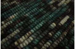 Piękny ręcznie wykonany dywan z rzędów wełny czesankowej gruby masywny kolorowy design 160x230cm Indie