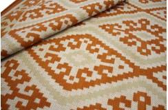 Piękny ręcznie wykonany płasko tkany kilim dywan wełniany z Indii 160x230cm beż ceglasty