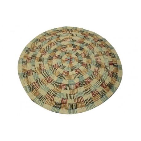 Piękny ręcznie wykonany dwupoziomowy dywan z rzędów wełny czesankowej gruby masywny beżowy 160x230cm Indie
