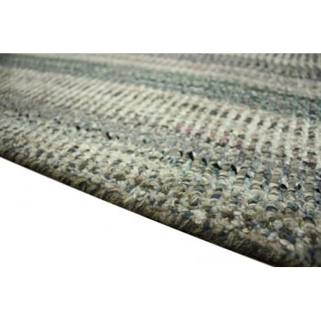 Z kolorowym deseniem ręcznie wykonany indyjski dywan 100% wiskoza 160x230cm pętelkowy