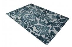 100% wełniany piękny nowoczesny dywan gruby w wzory vintage kwiatowe cieniowane beż brąz 160x230cm