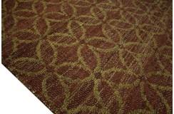 Sznurkowy pąsko ręcznie tkany dwustronny kilim - dywan 100% juta 160x230 naturalny