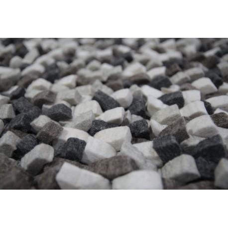 100% wełniany jedyny dywan Rocks wartościowy wełna filcowana okrągły 160x160cm