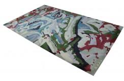 100% wełna nowoczesny dywan abstrakcyjny kolorowy gruby 160x250cm dla dzieci