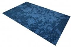 100% wełna nowoczesny dywan abstrakcyjny niebieski gruby 160x240cm indyjski