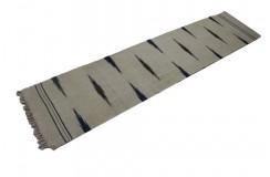 100% wełna ręcznie tkany chodnik półantyczny beżowy z wzorami dwustronny kilim 60x270cm afgan etno cienki