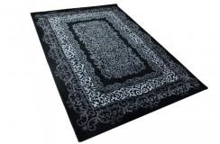 Czarny miękki dywan z połyskiem Lalee Aura 782 black 160x230cm 70%PP 30%akryl