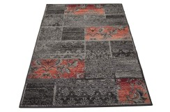 Brązowy dywan patchwork Lalee Contempo 139 red 160x230cm 100%PP-BCF