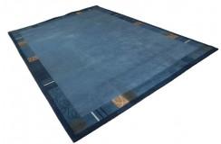 Niebieski luksusowy dywan NEPAL SHANGRILLA premium 250x350 High-Quality 100% wełna