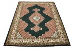 Czarny piękny dywan Tabriz z Indii ok 170x240cm 100% wełna oryginalny ręcznie tkany perski gruby