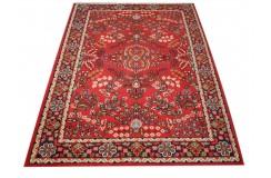 Czerwony piękny dywan Tabriz z Indii ok 170x240cm 100% wełna oryginalny ręcznie tkany perski gruby