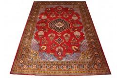 Dywan Tabriz 207x305100% wełna z Iranu czerwony klasyczny kwiatowy