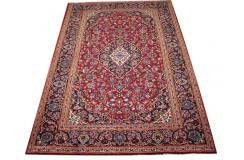 Czerwony oryginalny dywan Kashan (Keszan) z Iranu wełna 202x297cm perski