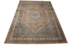 Brązowy piękny dywan Bidjar Fein z Indii ok 250x350cm 100% wełna oryginalny ręcznie tkany perski gruby herati klasyczny