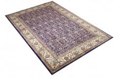 Perski ceny dywan KOM (GHOM) ręczne tkany 200x300cm 100% wełna kwatowy gustowny niebieski