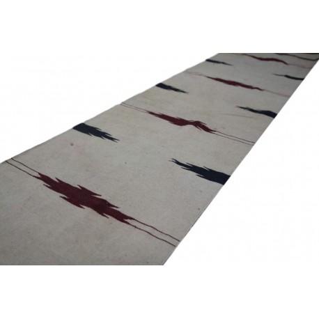 100% wełna ręcznie tkany chodnik beżowy z wzorami dwustronny kilim 60x270cm lekki tradycyjny z Afganistanu