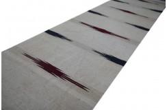 100% wełna ręcznie tkany chodnik afgański beżowy z wzorami dwustronny kilim 60x270cm na ścianę