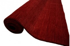 Gładki 100% wełniany dywan Gabbeh Handloom nasycony czerwony 200x300cm bez wzorów