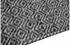 Duwstronny kilim dywan wełna owcza JAIPUR 334 GRAPHITE 160x230