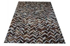 Naturalna skóra bydlęca dywan patchwork 140x200cm różne wzory